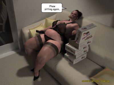 3Darlings Model Nadia eat Donuts - part 7