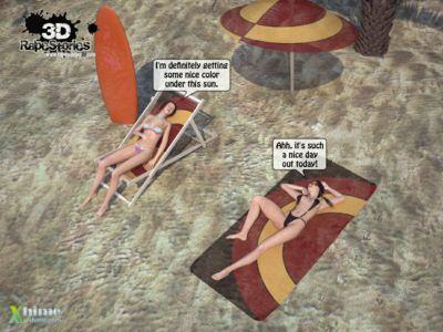 人 強奸 女孩 在 海灘