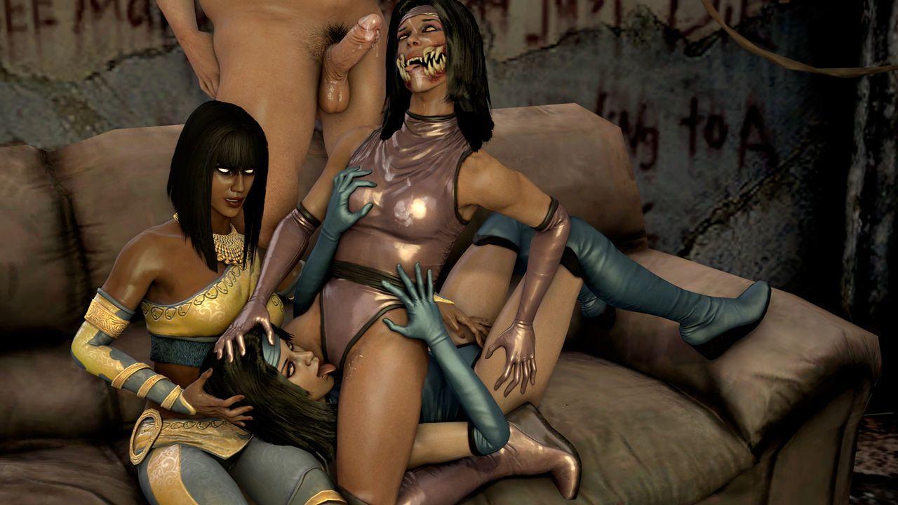 Групповой секс в Мортал Комбат