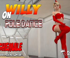 PigKing Willy on Pole Dance English