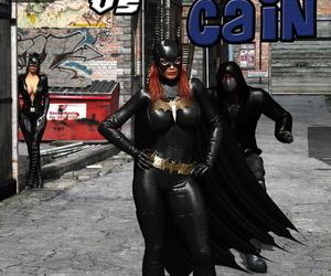MrBunnyArt Batgirl vs Cain Batman English