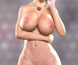 Helena busty wide hip blonde art 3d
