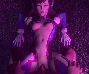 OverWatch D.Va Gets pounded hard by a huge cock and gets creampied