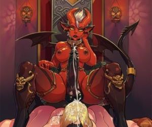 Picture- Futa demon sitting on a..