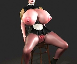Comics Big breasted 3d hottie shows boobs and.., 3d  All
