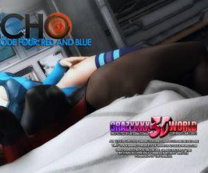 Comics Echo Ep. 4- Red and Blue- Crazyxxx3D.., anal , blowjob  double-penetration