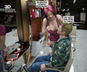 Comics Two boys rape a woman at haircut-.., anal , blowjob  3d porn comics