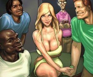 Comics The Poker Game- BNW, interracical  hardcore