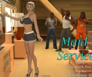 Comics Maid Service- BNW, 3d  interracical