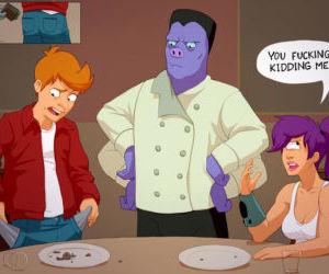 Comics Futurama- Typical Date With Fry, blowjob  cumshot