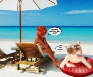 Comics Beach Cum Guzzlers- InterracialSex3D, blowjob  cumshot