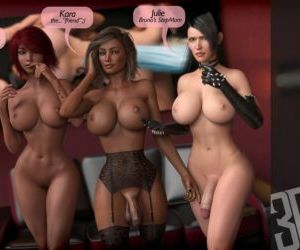 Comics 3DSimon- My StepMom Is a DickGirl 2, blowjob , threesome  big-boobs