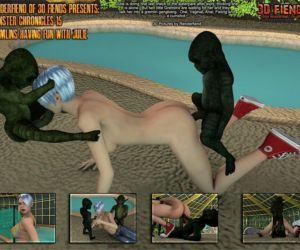 Comics 3DFiends- Monster Chronicles 15, blowjob , threesome  monster