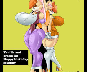Comics Sonic The Hedgehog- Happy Birthday Mommy, anal , sonic the hedgehog  futanari & shemale & dickgirl