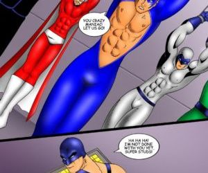 Comics The Super Studs 2, superheroes  bondage