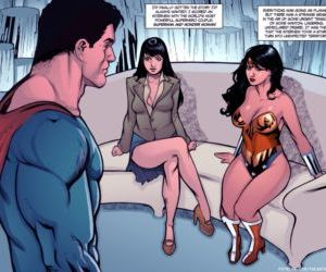 Comics Supertryst, threesome , superheroes  All