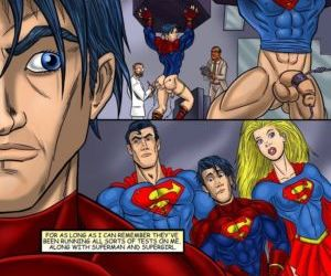 Comics Superboy, threesome , bisexual  iceman blue