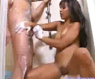 Max Mikita gives a soapy handjob..