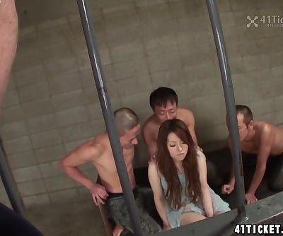 Miu Aizaki's Jail Cell Gangbang..