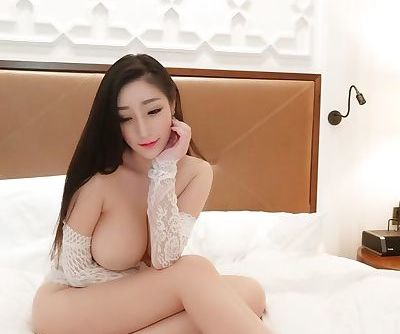 Blurred nipple with open lace..