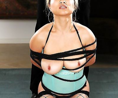 Asian Mia Rider blindfolded for..