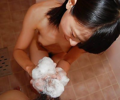 Asian teen Miki Kamisaka enjoys..