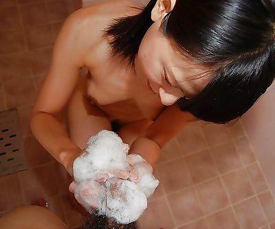 Asian teen Miki Kamisaka enjoys..
