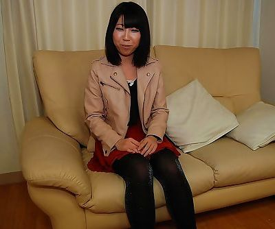 Shy asian chick in pantyhose..