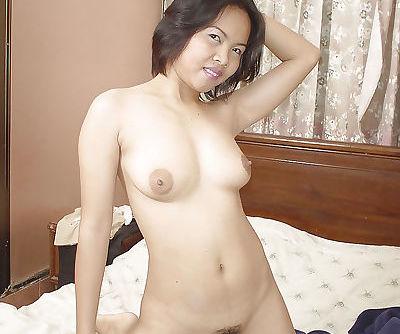 Asian hairy babe Tar is..