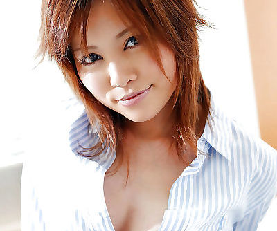 Naughty asian coed Hitomi Yoshino..