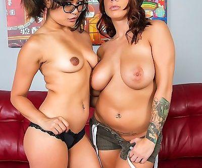 Pornstars Annie Cruz and Lylith..
