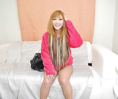 Asian teenage cutie Saki Oshiro..