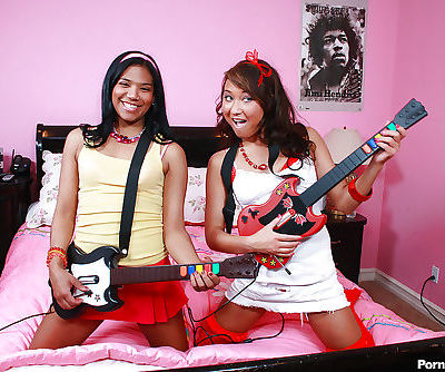 Young teens Asian and Latina..