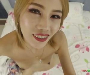 White-skinned Thai girl blowjob..