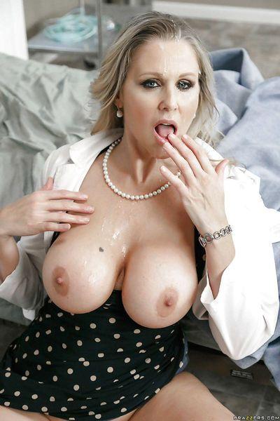 Mature blonde cougar Julia Ann taking hardcore sex in doctors uniform - part 2