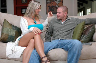Mature blonde Vicky Vette brings out round tits and fucks hardcore
