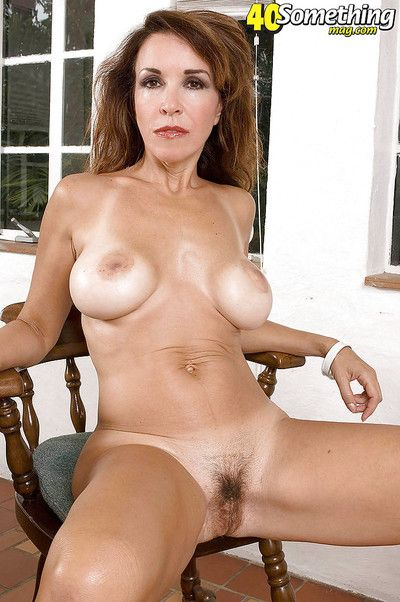 Lovesome mature with yummy tits Gia Giancarlo fucked from below by a stiff dick