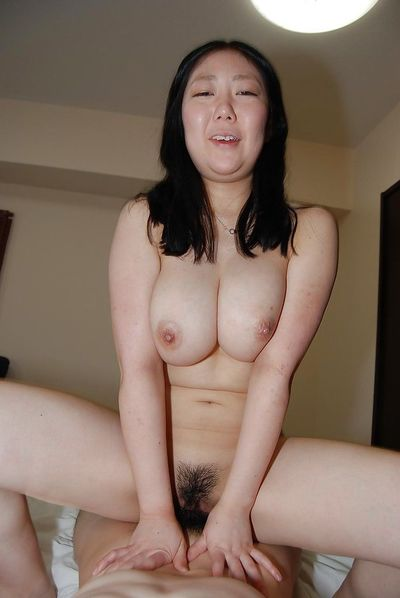 Slutty asian gal with ample melons gets her hairy pussy fingered and fucked - part 2