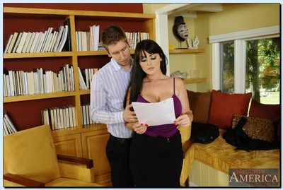 Deep-bosomed secretary Sophie Dee gets fucked and facialized by her boss