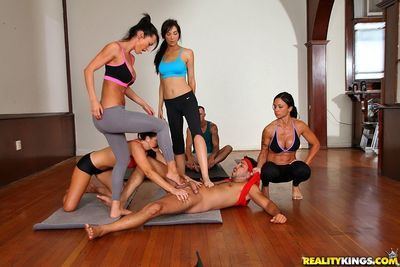 CFNM scene with horny milf Jewels Jade turns into rough reality orgy