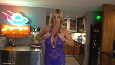 Mature with huge tits Sandra Otterson sucks son in heavy POV oral scene
