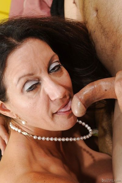 Busty mature lady Persia Monir gets her shaggy pussy drilled hardcore