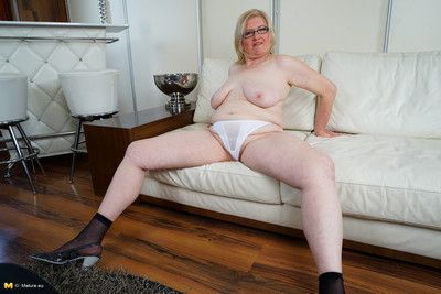 Blonde mature housewife with chubby ass and tits