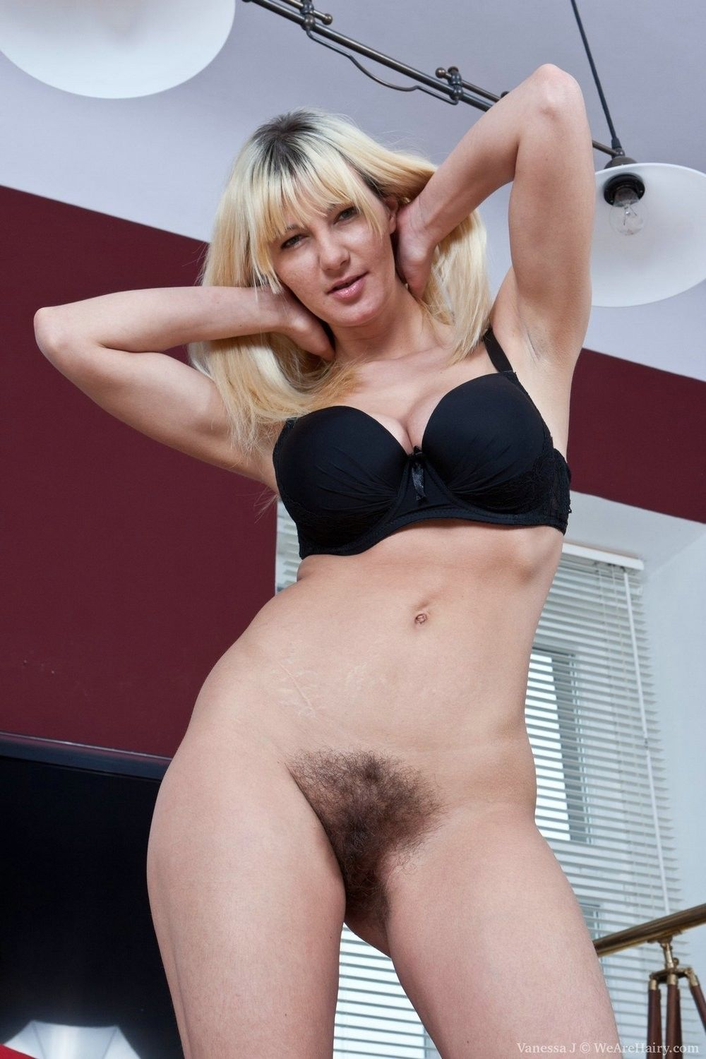Vanessa j loves to show her incredibly hairy body