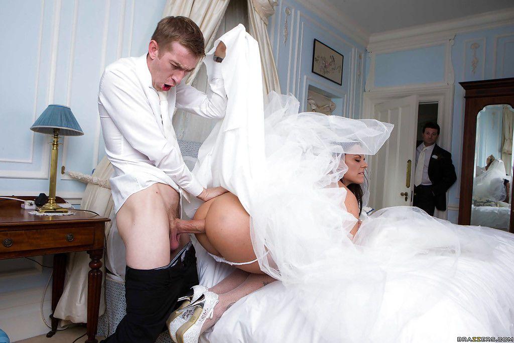 European MILF Simony Diamond taking anal sex in wedding dress from big cock - part 2
