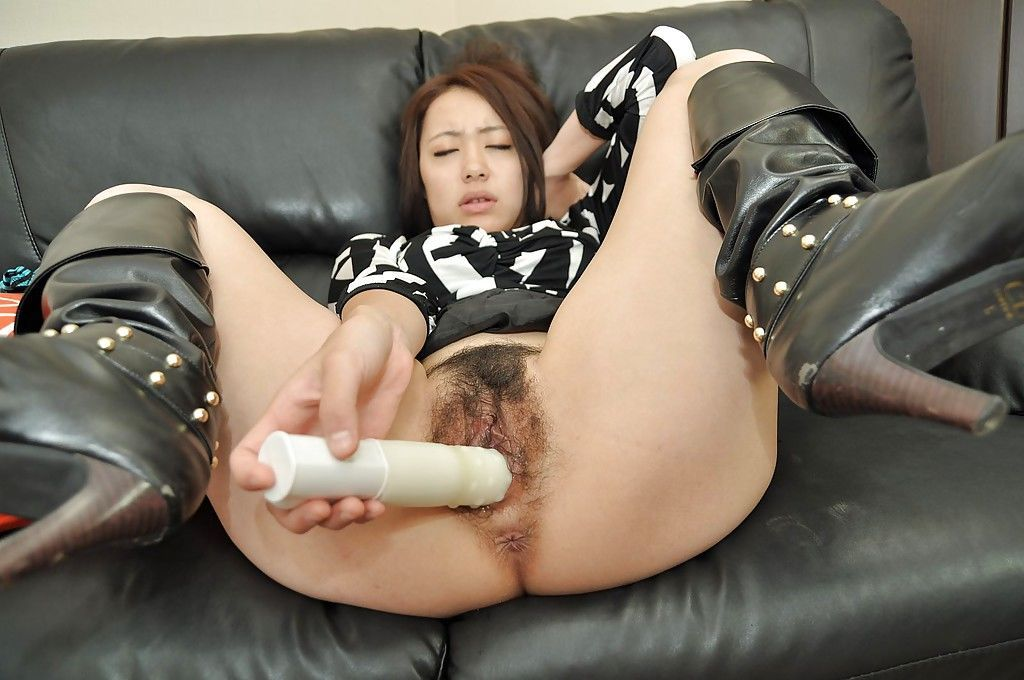 Asian MILF Aya Nakano takes off her panties and has some pussy toying fun - part 2