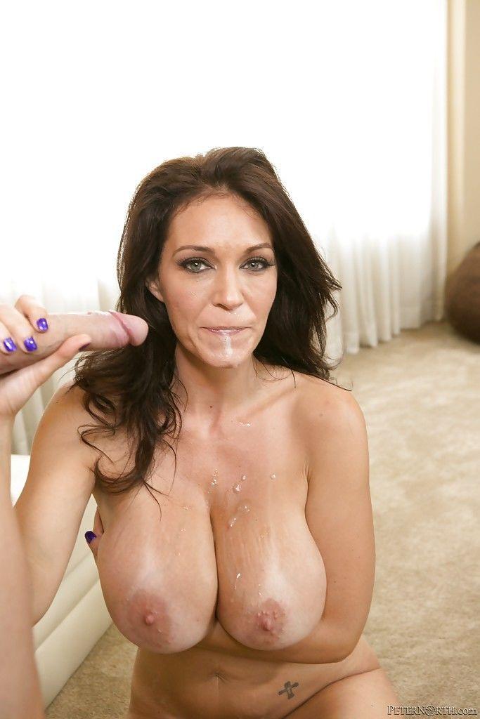 Cougar pornstar with brunette hair Charlee Chase enjoys hardcore sex - part 2
