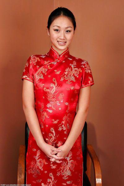 Châu á Nghiệp dư. Evelyn Lin baring Hoàn hảo Babe gõ Nhỏ bộ ngực và Phat mông tôi