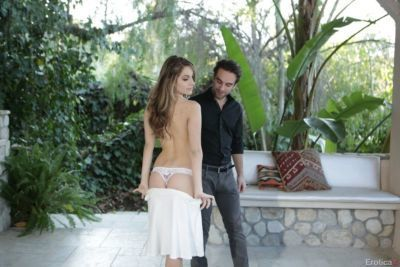 Petite female Kimmy Granger seduces male passerby for a hard fuck in hot tub