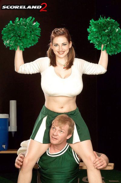 Chesty cheerleader Christy Marks tit fucking big dick during hardcore sex